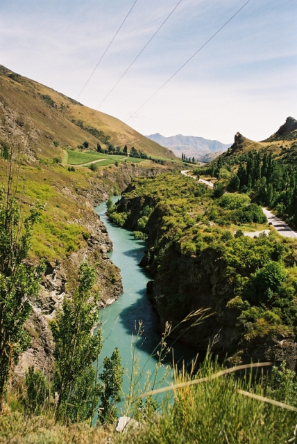 Kawarau river close to Queenstown serving as the location of the Pillars of the Kings