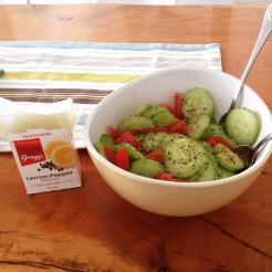 Lemon pepper makes any salad heaps yummier!